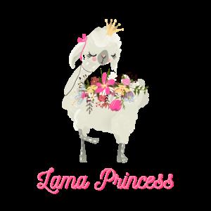 süßes Lama Prinzessinen Shirt