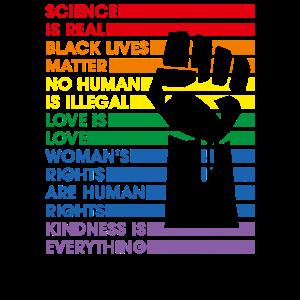Science Is Real Black Lives Matter Lgbt Pride Love