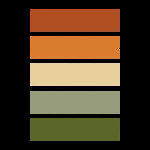 color scheme Autumn vintage