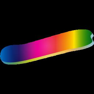 Minus Zeichen und Bindestrich in Regenbogenfarben