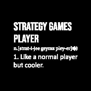 Strategy Games Player Wörterbuch Spruch