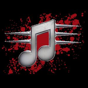 Musiknote mit Stacheln