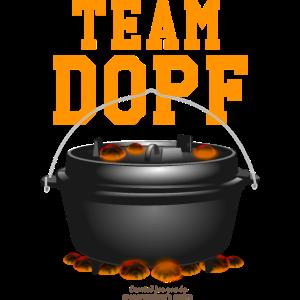Dutch Oven Team Dopf für Camping Fans