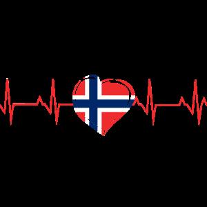 Norwegen EKG Herz Herzschlag Herzfrequenz Geschenk