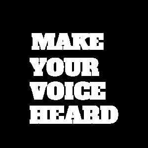 Lass deine Stimme hören