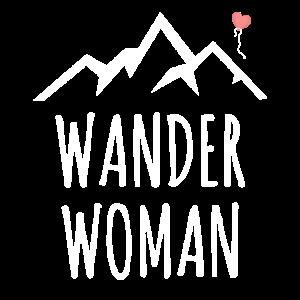 Wander Woman Berge Wandern Natur Spruch Geschenk