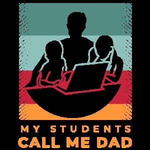 Homeschooling Schule Daheim für Papa Vater