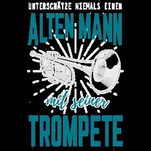 Trompete Blechbläser Alter Mann