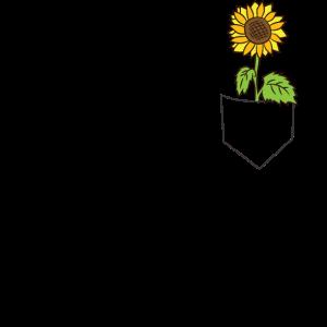Coole Sonnenblume in der Tasche