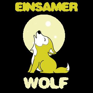 Einsamer Wolf Mond