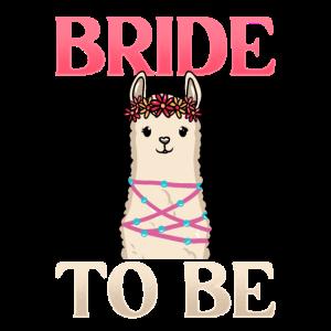 Junggesellinnenabschied m. Alpaka, Lama für Braut