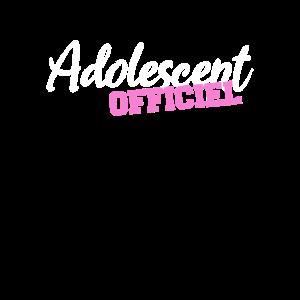 adolescent officiel 13 ans fille
