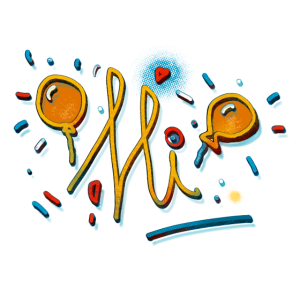 Hallo Sunny Doodle Spaß Design von FabSpark