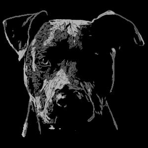 Hundekopf Stilisiert gezeichnet für Hundebesitzer