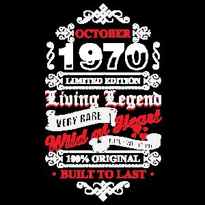 50. Geburtstag 50 Living Legend Oktober 1970