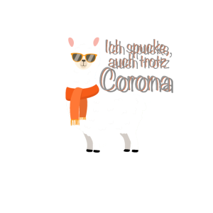 Lustiges Lama Alpaka Corona Covid19 witziges Motiv