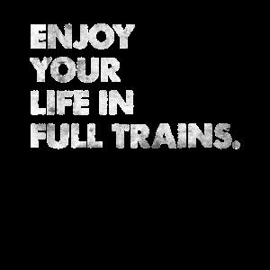 Enyoj Your Life In Full Trains Spruch Denglisch
