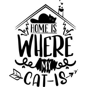 "Tasse ""Home is where my cat is"""