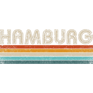 Hamburg Shirt Geschenk Retro Style Vintage 80er