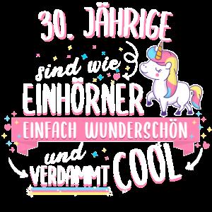 Geburtstag 30 Geburtstag Einhorn Spruch Party