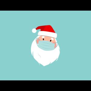 Weihnachtsmann mit Gesichtsmaske
