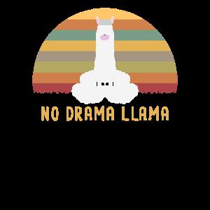 No drama LLama Cooles Meditierendes Lama Geschenk
