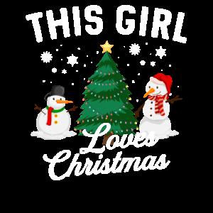 This Girl Loves Christmas Weihnachten Geschenk
