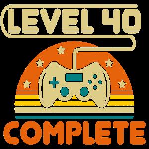 40 Geburtstag Level 40 Complete 40 Jahre Geschenk