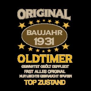 Geburtstag, Original Old Timer, Baujahr 1931