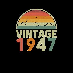 Vintage 1947 Classic Geburtstags Geschenkidee
