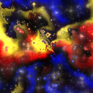 Abstraktes Fraktal Sci-Fi Muster