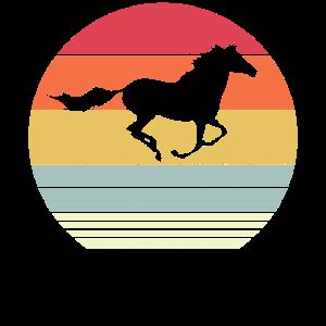 Pferd Retro Sun Style Silhouette Geschenk