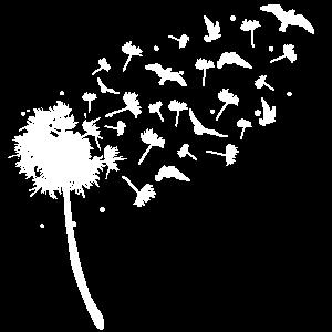 Pusteblume Löwenzahn Vogel Vögel Geschenk