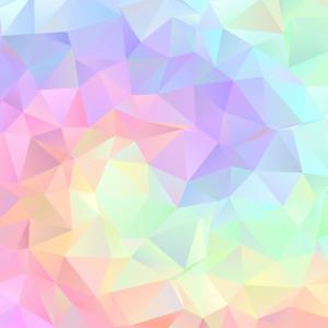 Gesichtsmaske pastell dreieck