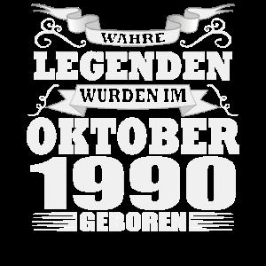 Legenden wurden im Oktober 1990 geboren Geburtstag