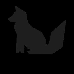 Modern minimal geometrisch Fuchs Wildtier