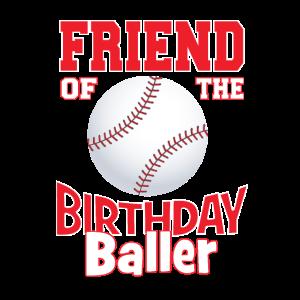 Freund des Geburtstagsballer-Baseball-Themas