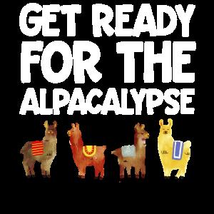 Machen Sie sich bereit für das Alpacalypse Llma Adult Fun Gift