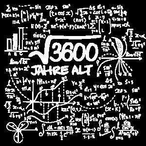 WURZEL 3600 = 60 JAHRE MATHE GEBURTSTAG GESCHENK