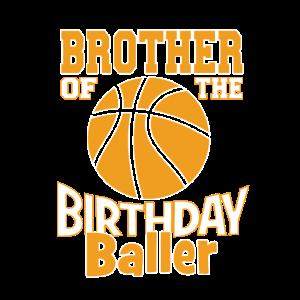 Bruder des Geburtstagsballer-Basketball-Themas