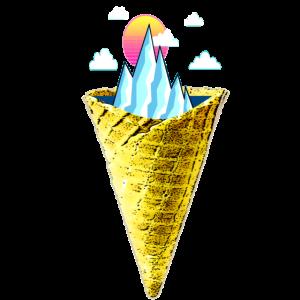 Eisberg in der Waffel