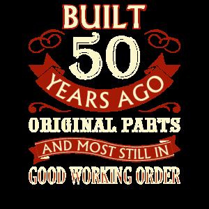 Funny 50th Birthday Man Woman Fun Vintage 50 Years