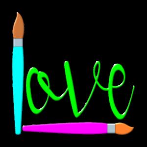 Malen Pinsel Kreativitaet LOVE KUNSTUNTERRICHT