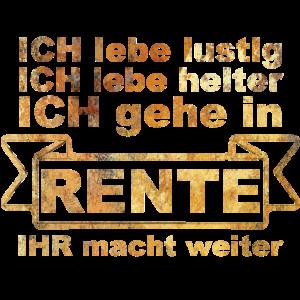 Rente Rentner Rentnerin Geschenk