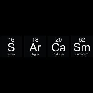 Schwarz-Weiß-Periodensystem Sarkasmus