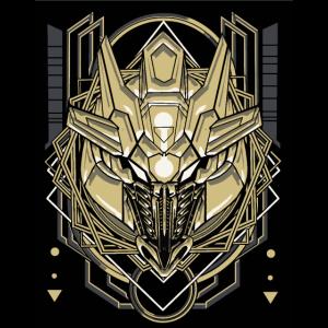 bull robot cybernetic sacred geometry 12342143233