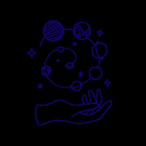Lineart, Planeten, Universum, Sterne, Weltraum