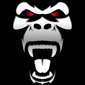 Ein böser Gorilla
