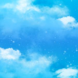 Magische Fantasie Blue Sky Clouds Verträumter Sternenstaub