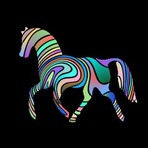 Pferd mit tollen Farben